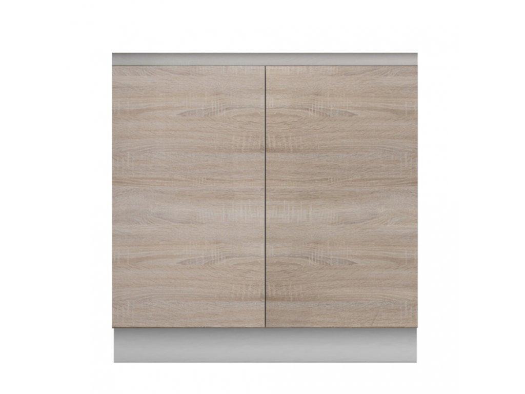 Dolní skříňka D 80, dub sonoma/bílá, LINE