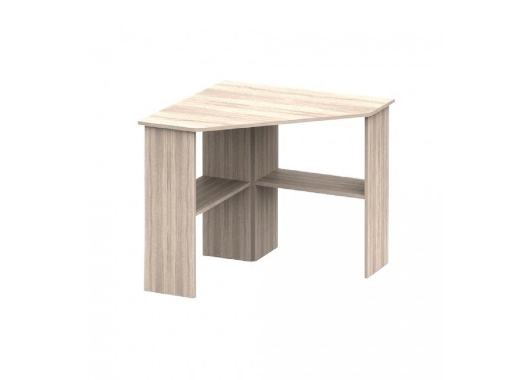 PC stůl, rohový, dub sonoma, RONY NEW