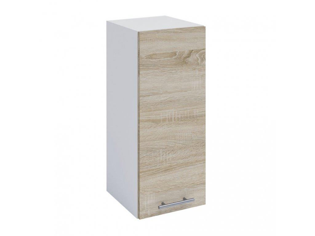 Horní skříňka, dub sonoma / bílá, FABIANA W - 30