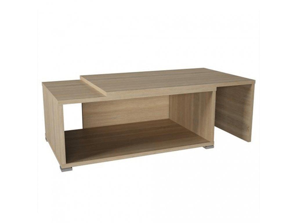 Konferenční rozkládací stolek, dub sonoma, DRON