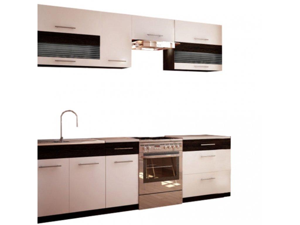 Kuchyňská linka, bílá / wenge, JURA NEW B ZS