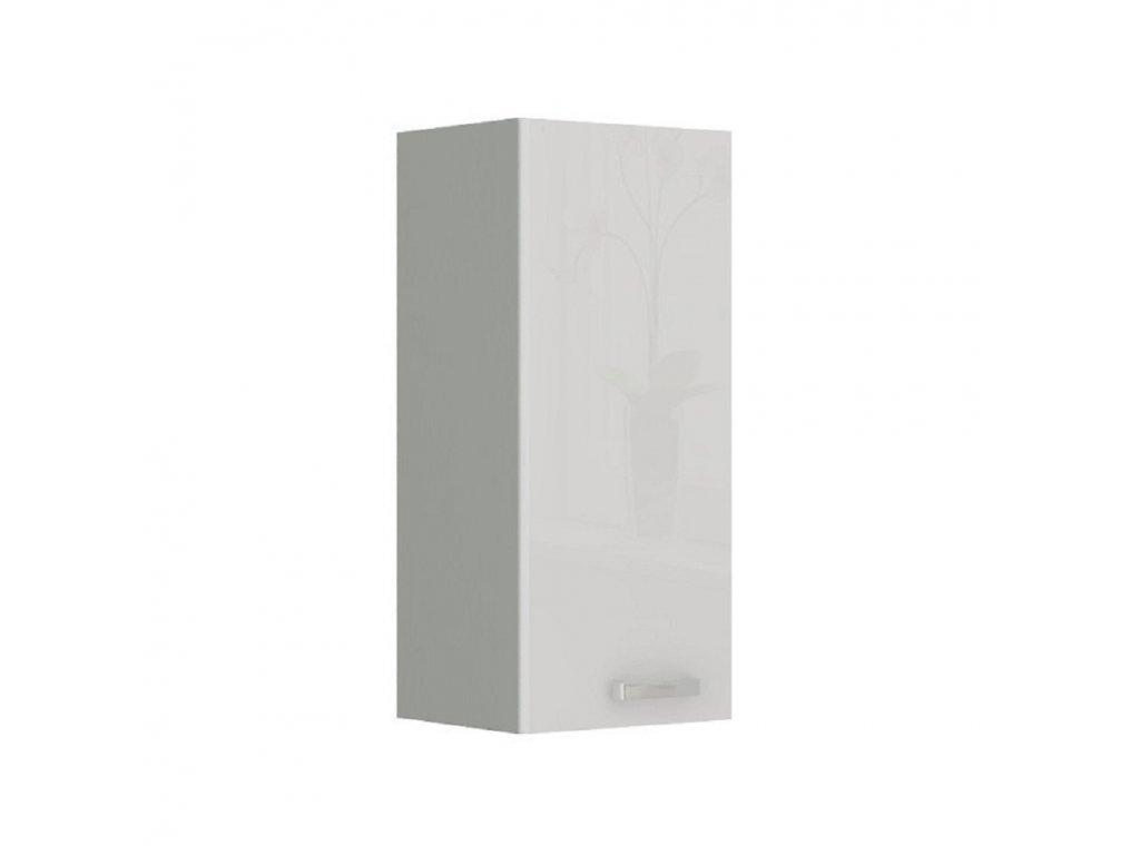 Skříňka horní, bílá vysoký lesk, PRADO 30 G-72
