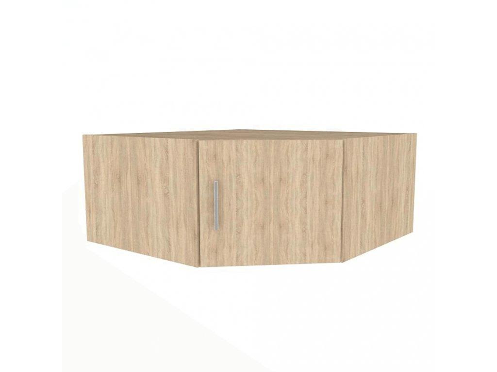Nástavec na skříň, dub sonoma, INVITA TYP 8