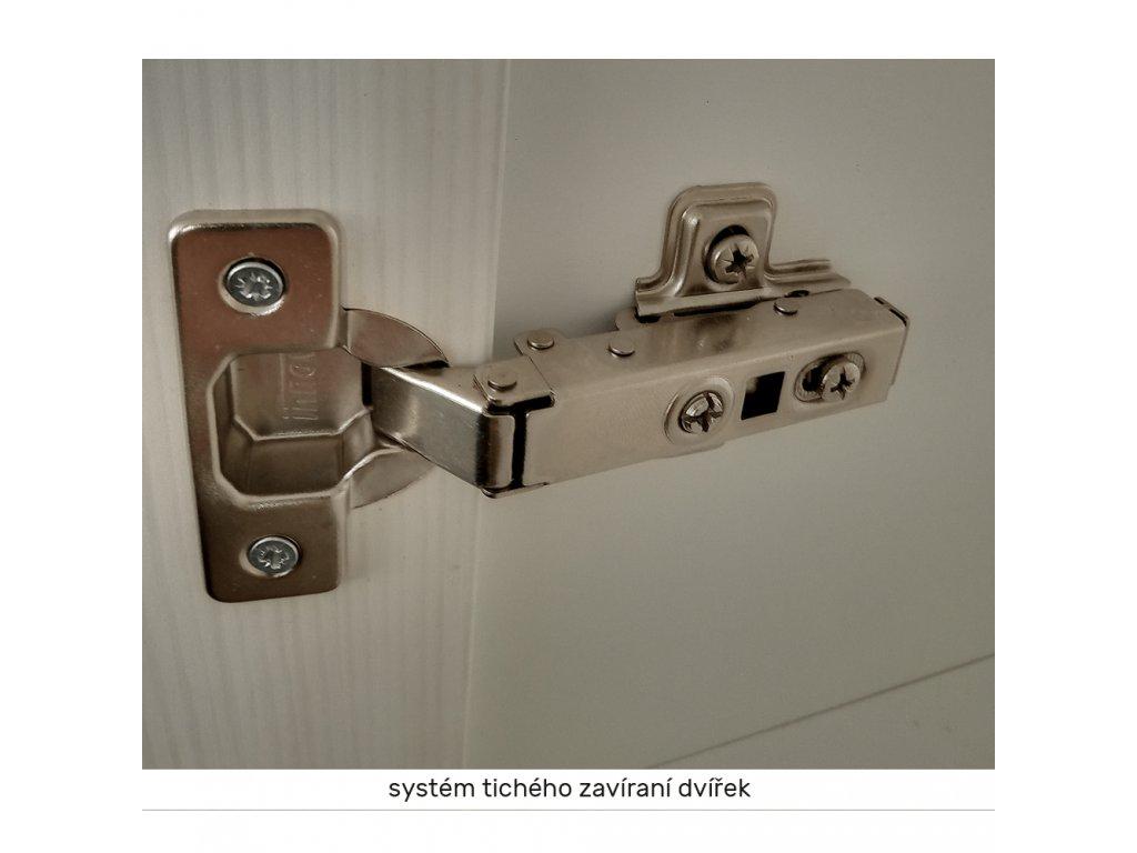 Horní skříňka se sklem, bílá / sosna skandinávská, levá, ROYAL G30S