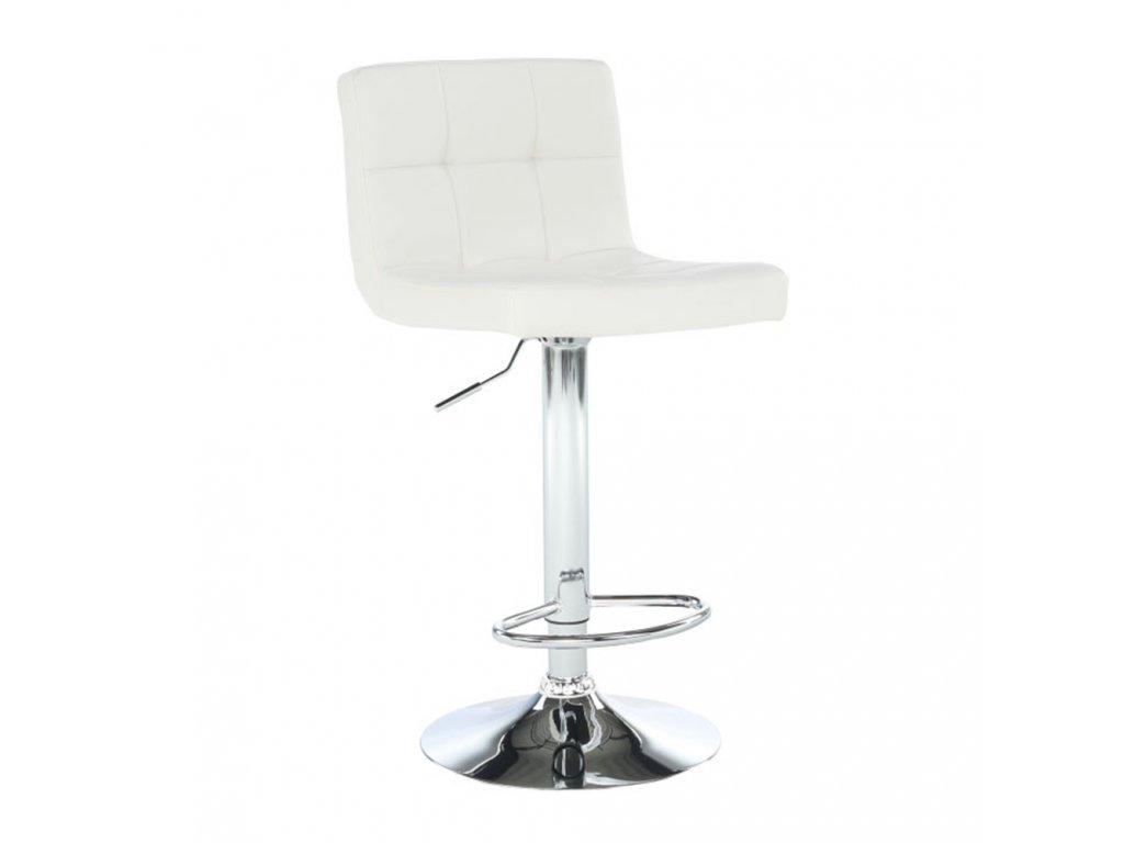 Barová židle, ekokůže béžová / chrom, KANDY New
