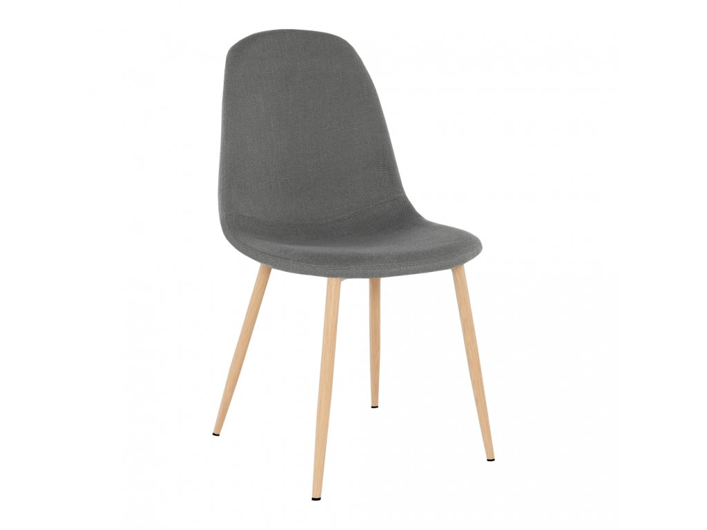 Židle, tmavě šedá látka / buk, LEGA