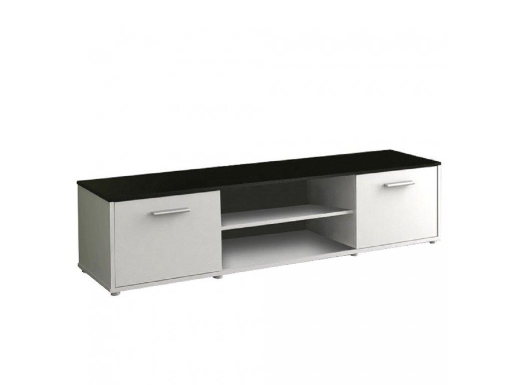TV stolek, bílá / černá, ZUNO NEW 01