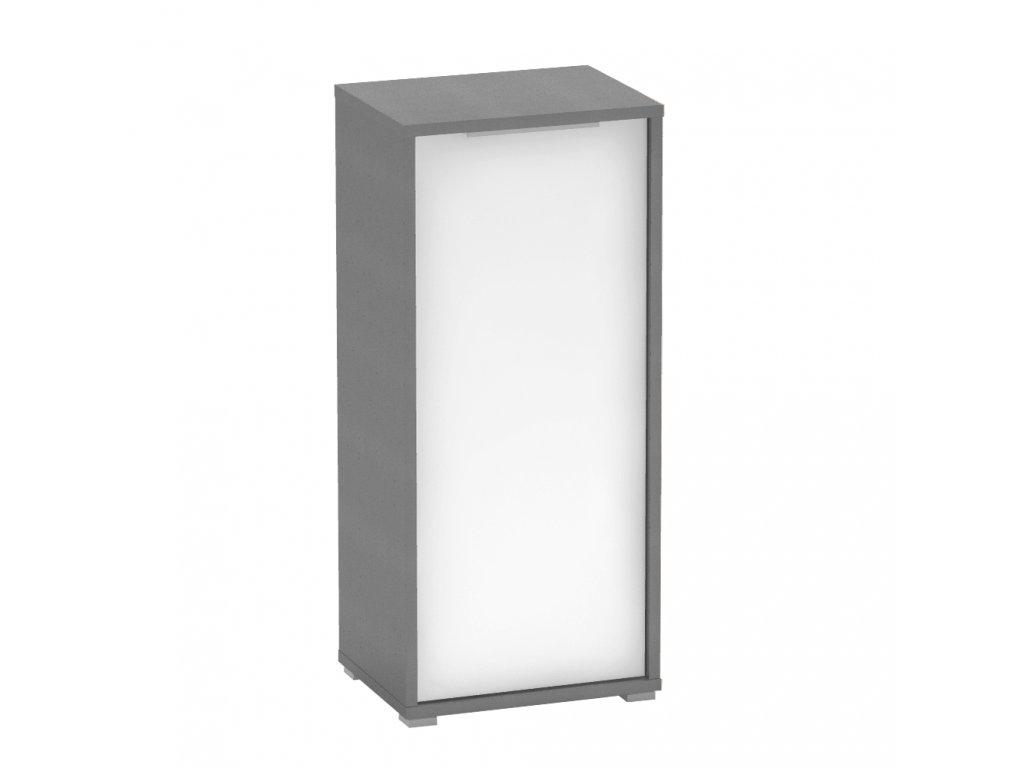 Skříňka, grafit / bílá, RIOMA TYP 10
