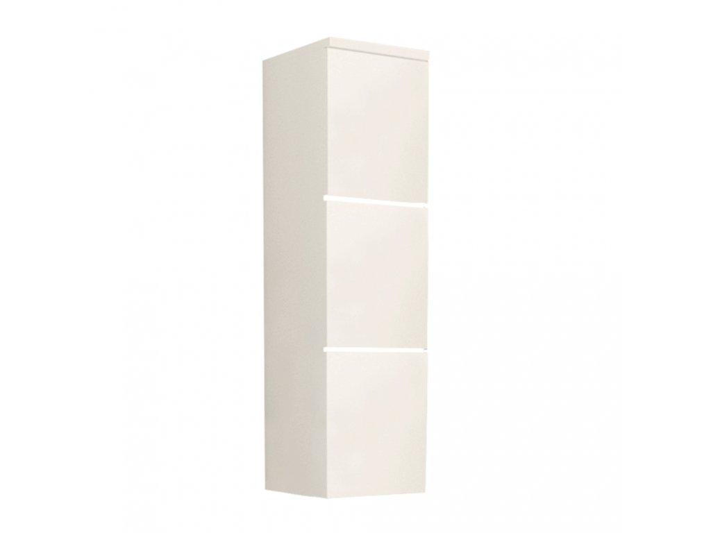 Skříňka vysoká, bílá / bílý extra vysoký lesk HG, MASON WH 11