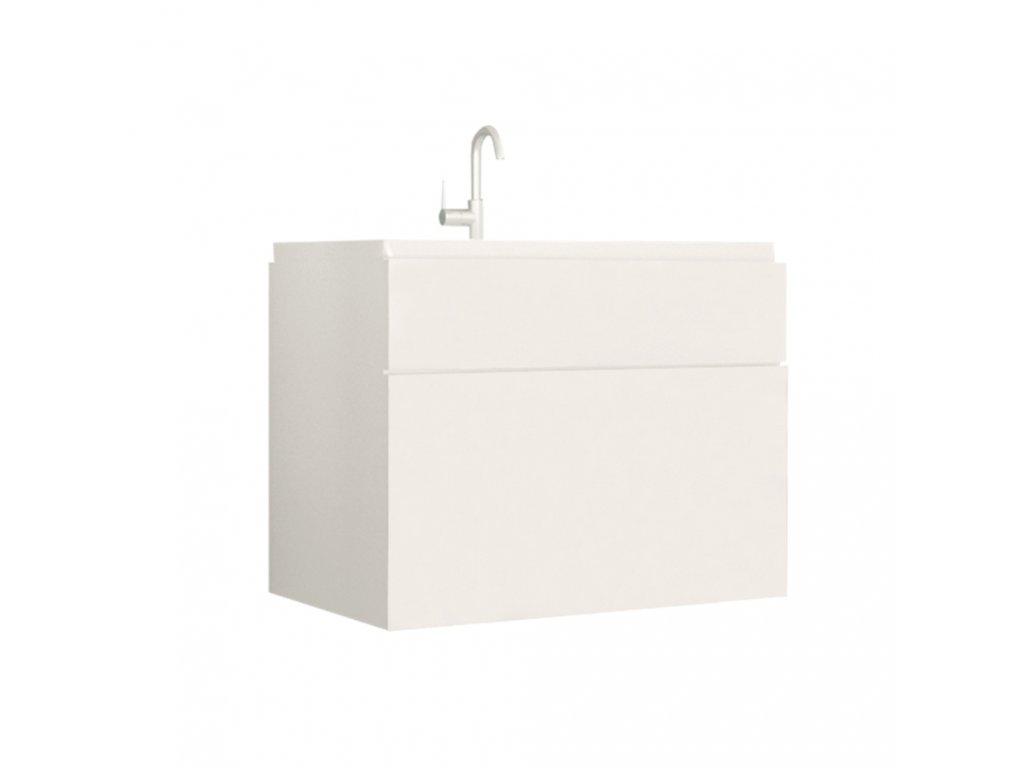 Skříňka pod umyvadlo, bílá / bílý extra vysoký lesk HG, MASON WH13