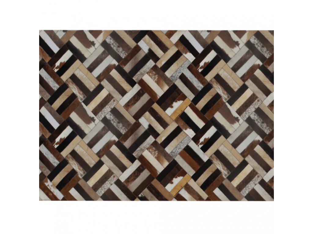Luxusní koberec, pravá kůže, 120x180, KŮŽE TYP 2