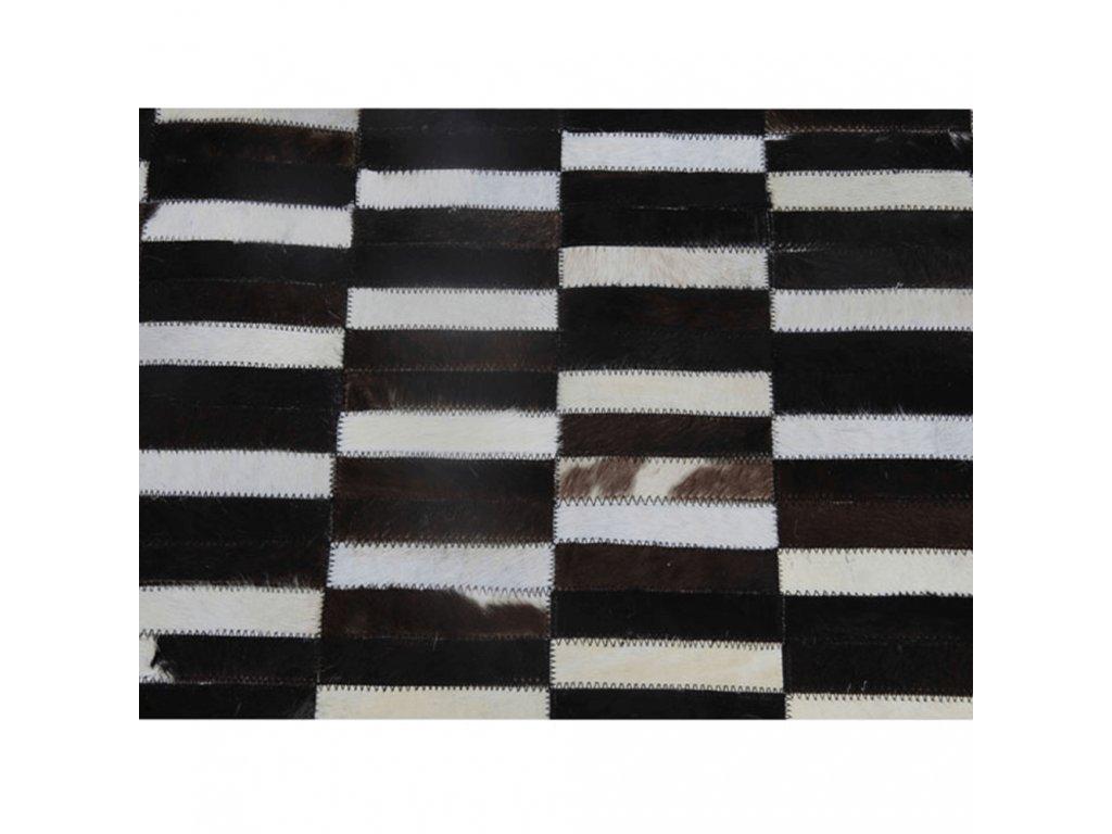Luxusní koberec, pravá kůže, 201x300, KŮŽE TYP 6