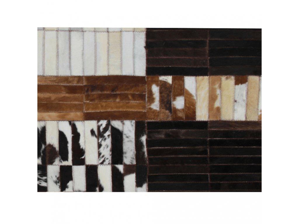 Luxusní koberec, pravá kůže, 201x300 cm, KŮŽE TYP 4