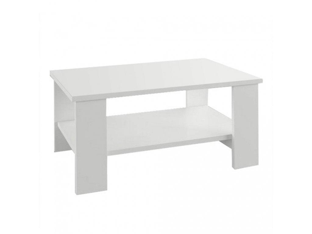 Konferenční stolek, bílá, BERNARDO