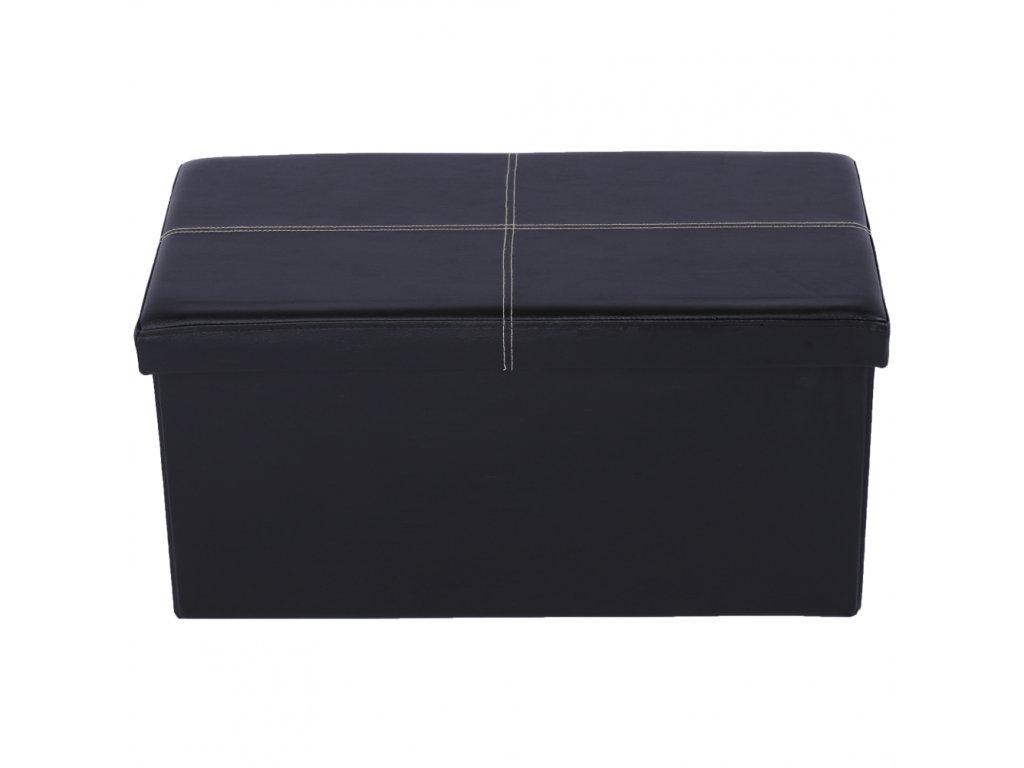 Skládací lavice, černá ekokůže, IMRA