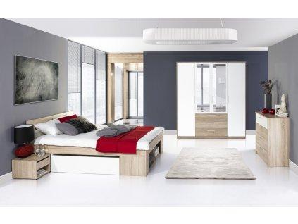 Ložnice MILO ( postel 160, komoda 4S, skříň )