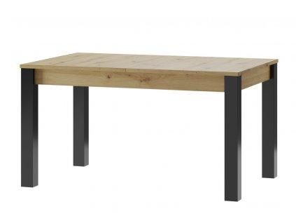 Jídelní stůl LUCAS 40 dub artisan/černá mat
