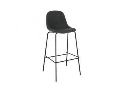 Barová židle, tmavě šedá látka / kov, MARIOLA 2 NEW