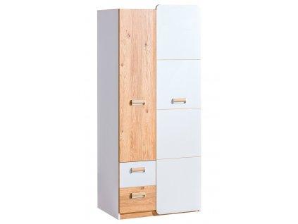 LIMO L1 šatní skříň bílá/dub nash