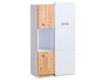 LIMO L5 kombinovaná skříňka bílá/dub nash