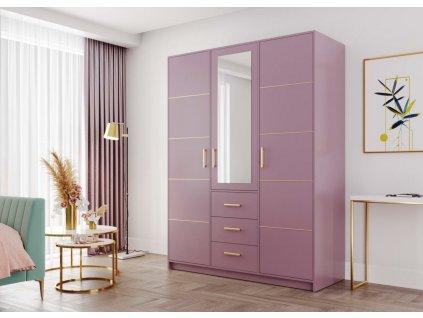 Šatní skříň BASILIO D3 fialová