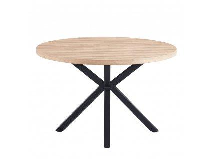 Jedálenský stůl, dub sonoma / čierna, MEDOR