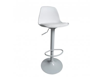 Barová židle, bílá, DOBBY