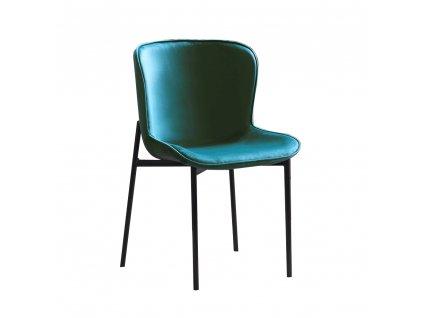 Jídelní židle, smaragdová Velvet látka, ADENA