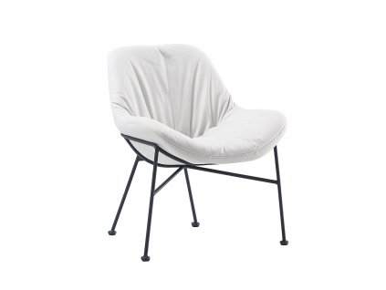 Jídelní židle, látka s efektem broušené kůže, béžová, KALIFA