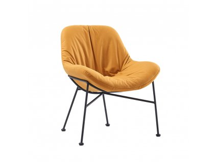 Jídelní židle, látka s efektem broušené kůže, camel, KALIFA
