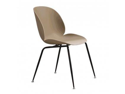 Jídelní židle,, béžová / černá, SONAIA