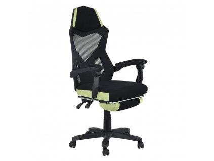 Kancelářské / herní křeslo, černá / zelená, JORIK