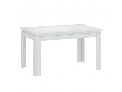 Rozkládací stůl, bílá, LINDY