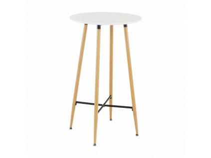 Barový stůl, bílá/dub, IMAM