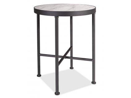 Konferenční stolek TALISMAN bílý mramor/černá