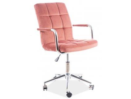 Kancelářská židle Q-022 VELVET starorůžová