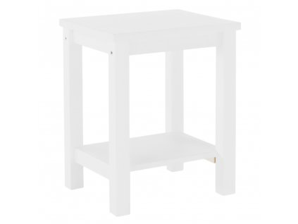 Noční stolek, masív / bílá, FOSIL