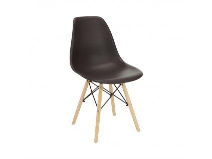 Židle, tmavohnědá / buk, CINKLA 3 NEW