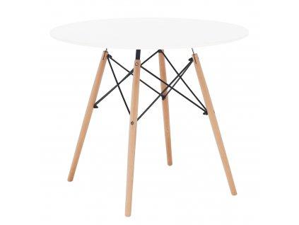 Jídelní stůl, bílá / buk, Gamin NEW 90