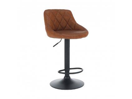 Barová židle, koňaková/černá, TERKAN