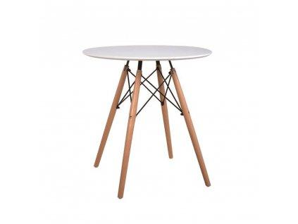 Jídelní stůl, bílá / buk, Gamin NEW 60