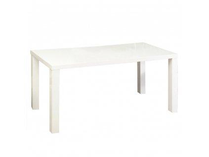 Jídelní stůl, bílá vysoký lesk HG, ASPER NEW TYP 3