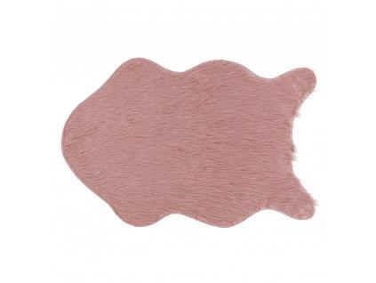 Umělá kožešina, růžová / zlatoružová, 60x90, FOX TYP 3