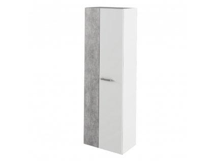 Skříň, bílá / beton, SIMA