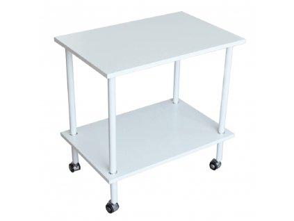 Příruční stolek, matná bílá, LABON