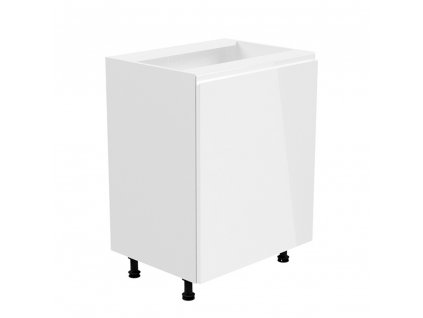 Spodní skříňka, bílá / bílá extra vysoký lesk, pravá, AURORA D601F