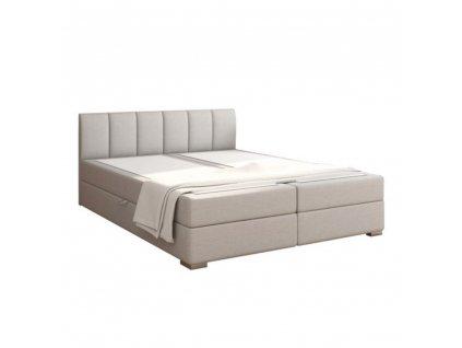 Boxpringová postel 160x200, světle šedá, RIANA KOMFORT