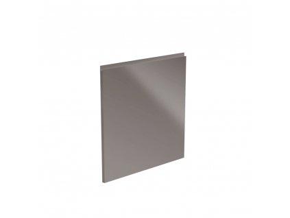 Dvířka na myčku, bílá / šedá extra vysoký lesk HG, 59,6x57, AURORA