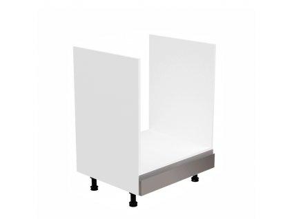 Skříňka na spotřebiče, bílá / šedá extra vysoký lesk, AURORA D60ZK