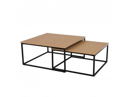 Set dvou konferenčních stolků, buk/černá, KASTLER TYP 1